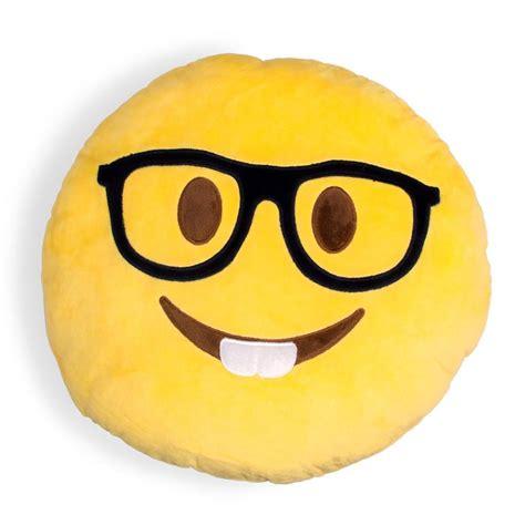 emoji nerd nerdy emoji pillow shelfies