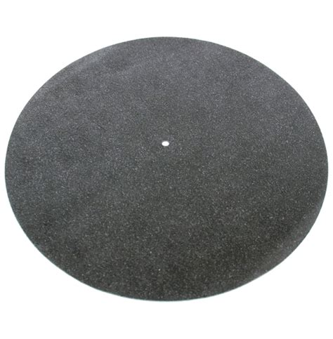Platter Mat by Black Suede Genuine Leather Turntable Platter Mat