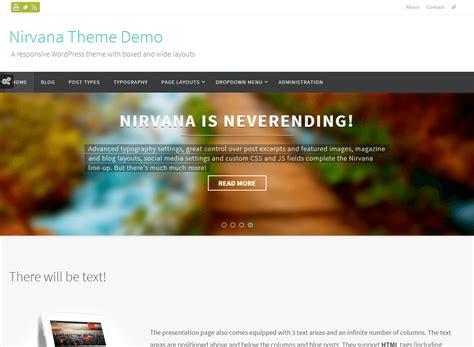 themes wordpress nirvana nirvana wordpress theme download review 2018
