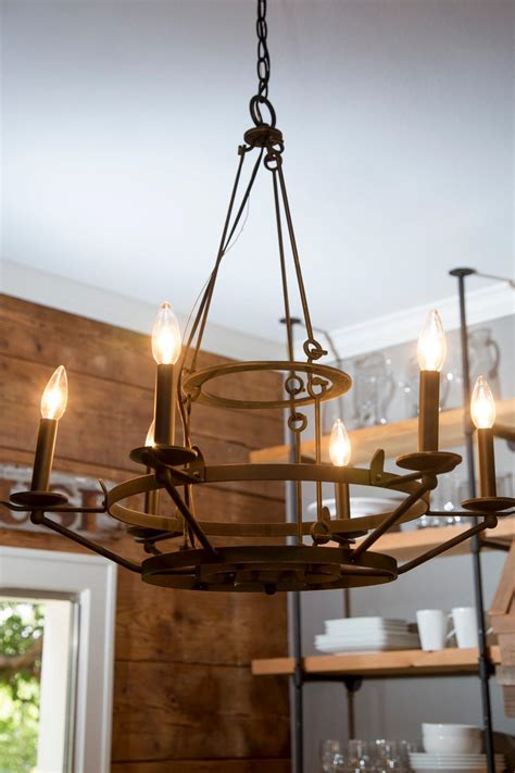 kitchen chandelier lighting fixer a craftsman remodel for coffeehouse owners hgtv s fixer with chip and