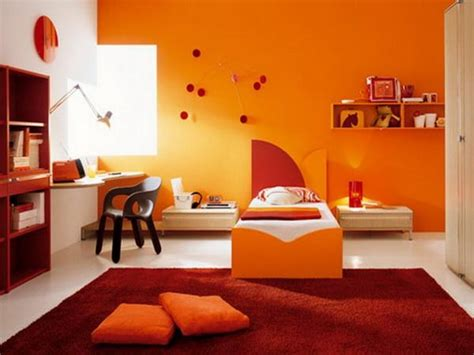 Orange Bedroom Ideas | paint ideas for bedrooms walls calming bedroom paint
