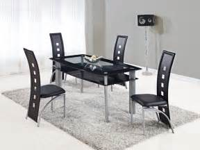 modern kitchen furniture sets extendable rectangular frosted glass top leather modern