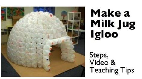 How To Make Igloo House With Paper - how to build a milk jug igloo hubpages
