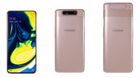Samsung Galaxy A80 Vs Note 10 by Samsung Galaxy A80 With Rotating Snapdragon 730g Announced Gadgets To Use