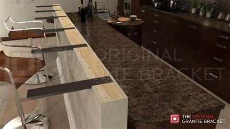 floating bar top knee wall countertop support bracket the original