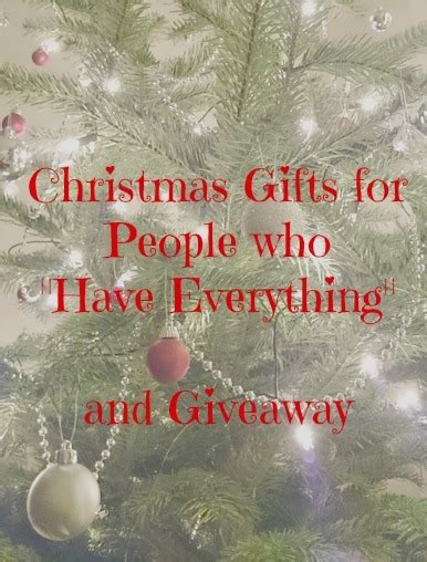 christmas gifts for people who quot have everything