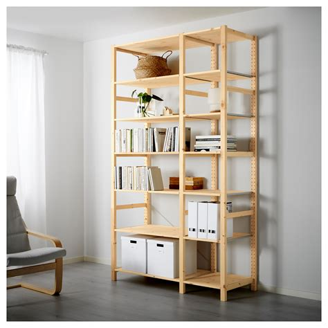 ivar 2 sections shelves pine 134x50x226 cm ikea