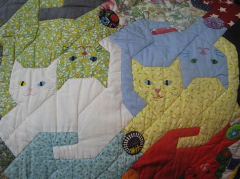 Patchwork Cats - 19 best cat quilts images on crafts cat