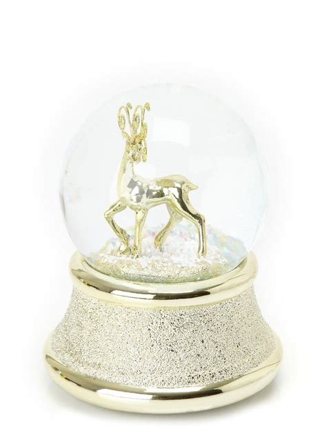 musical snow globes reindeer musical snow globe