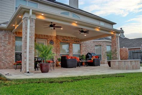 outside porch patio cover in cypress tx hhi patio covers