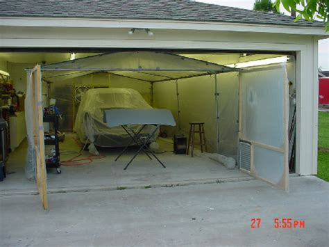 Garage Spray Booth by Paint Booth In Garage Home Painting