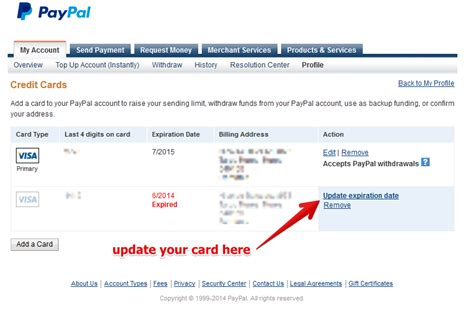 be aware of your card expiration date on ebay just