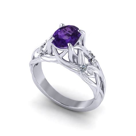 floral amethyst ring jewelry designs