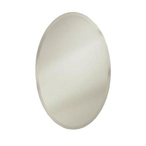 oval mirror medicine cabinet recessed metro oval 24 in w recessed or surface mount medicine