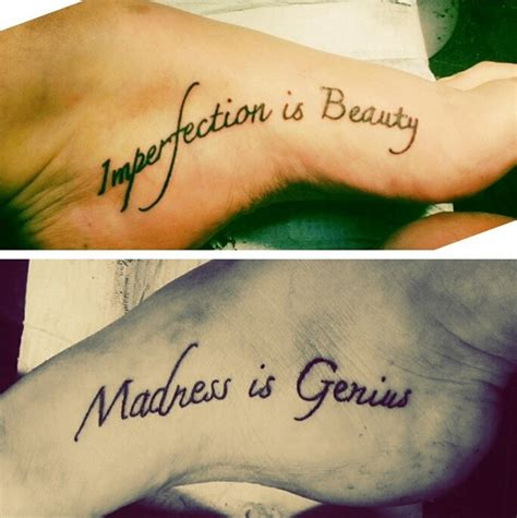 tattoo quotes for your feet inner foot tattoos newest addition famous marilyn monroe