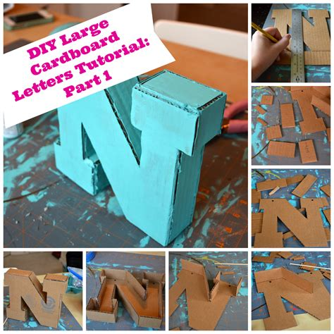 diy large cardboard letters part 1 the creative physician