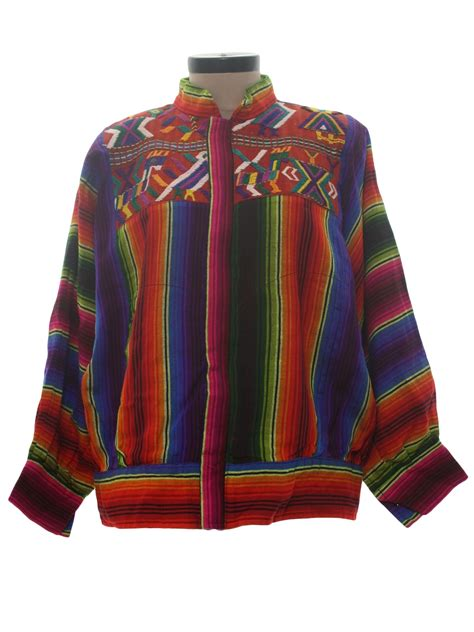 Try A Brightly Coloured Jacket For by 1980 S Retro Jacket 80s Kem Womens Bright Rainbow