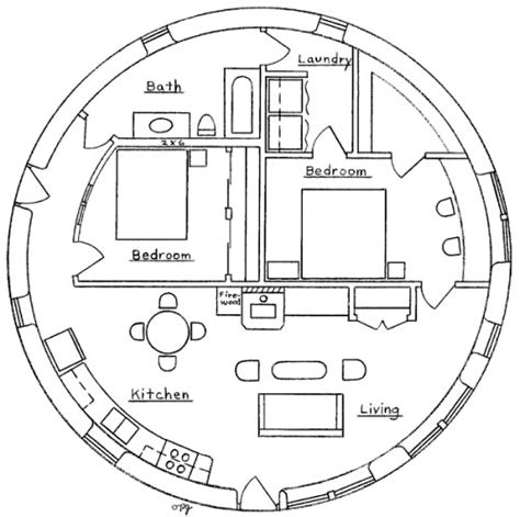 floor plans for round homes two bedroom roundhouse