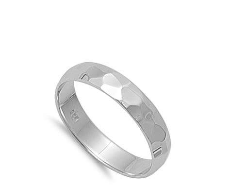 cut band ring new 925 sterling silver designer
