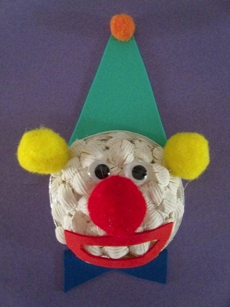 clown crafts for circus clown craft activity education