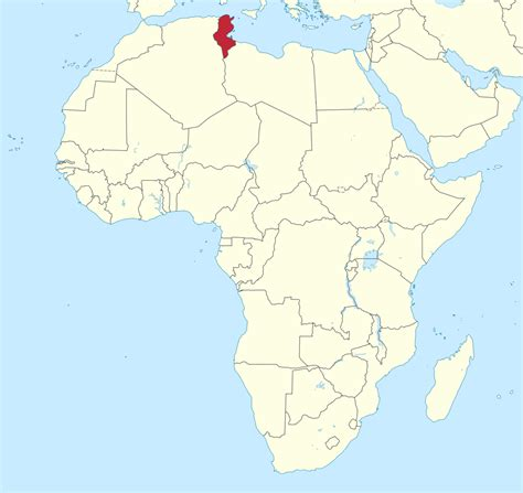 tunisia on map file tunisia in africa mini map rivers svg wikimedia