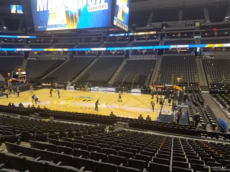 pepsi center section 122 pepsi center section 122 denver nuggets rateyourseats com