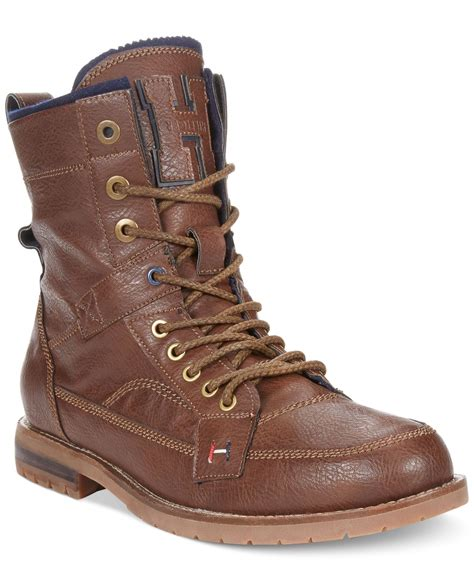 hilfiger boots hilfiger brutus boots in brown for lyst