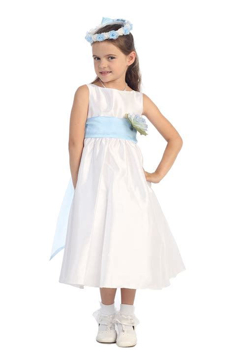 Wst 14394 Blue Flower Dress flower dresses white and blue