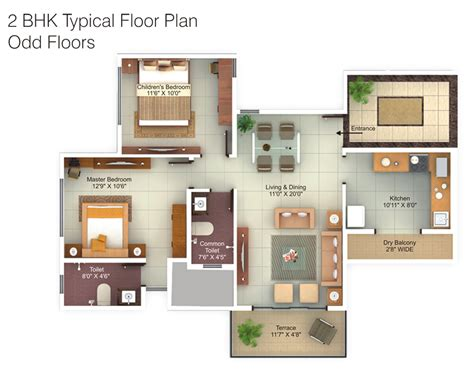 2 bhk flat plan 2 bhk flats floor plans