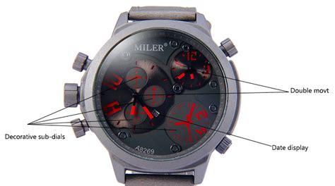 Jam Tangan Quartz Movt buy jam tangan branded untuk pria miler a8269 dual movt