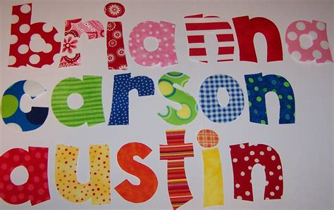 fabric applique letters iron on fabric letters levelings