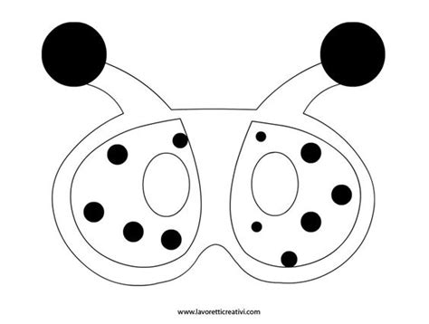 bug masks for templates sagoma maschera coccinella coccinelle