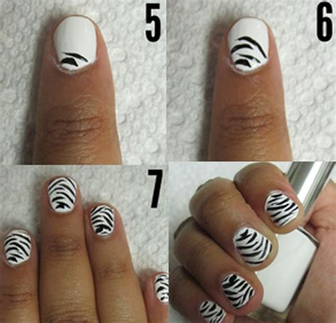 how to decorate nails at home how to paint zebra stripes on nails at home without nail