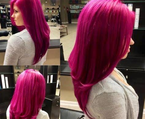 fuschia hair color fuschia colored hair ombre hair dye