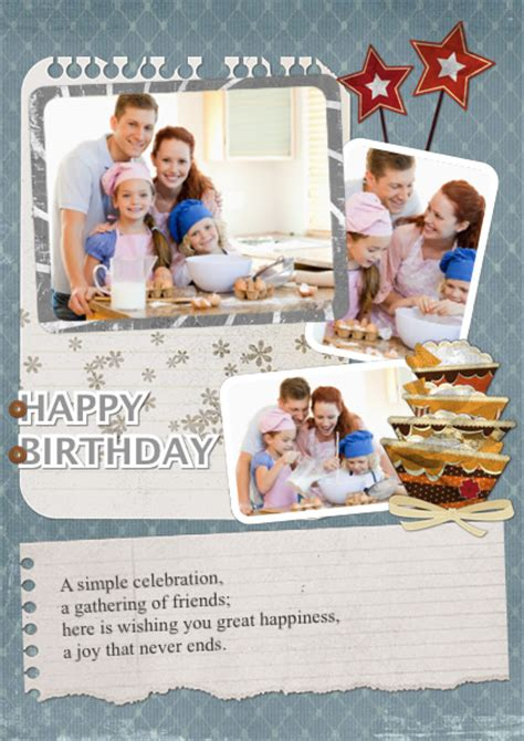birthday card collage template greeting card sles templates photo greeting cards