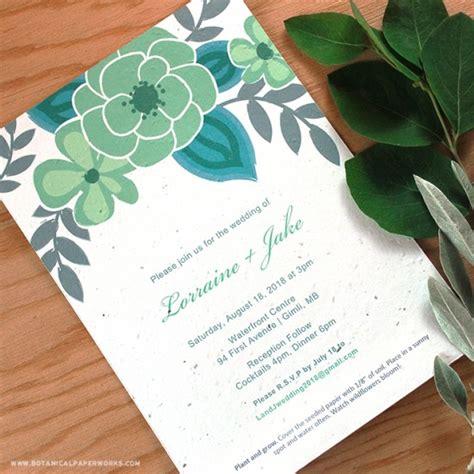 printable invitation paper seed paper printable wedding invitations kit plantable wedding invitations catalog