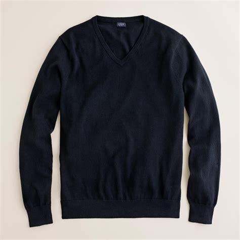 Black Sweater j crew slim cotton v neck sweater in black for