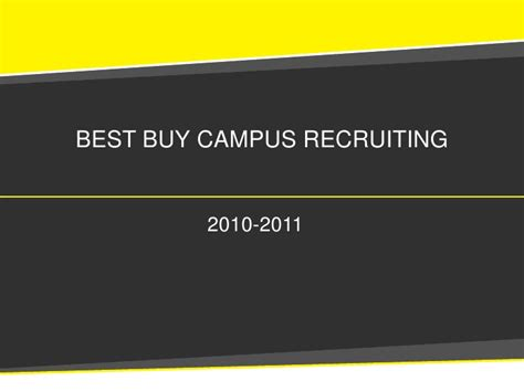 Mba Recruiting by Best Buy Finance Mba Recruiting Presentation 2010