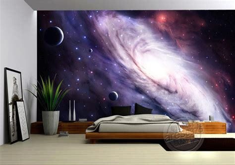 galaxy bedroom walls aliexpress com buy 3d purple galaxy wallpaper for