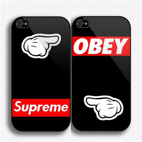 Of Supreme Logo Iphone 4 4s 5 5s 5c 6 6s Plus Cover obey supreme mickey iphone 5 dope