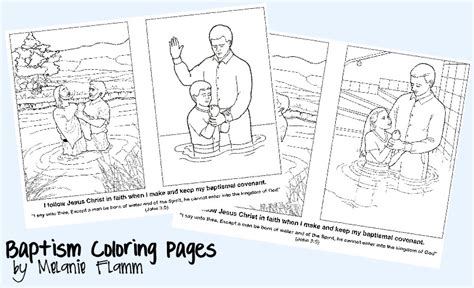 coloring pages baptism lds baptism coloring pages
