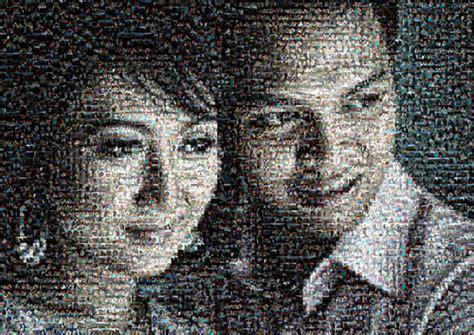 Photo Mozaik Bentuk jasa bikin karikatur mozaik kartun ganti background dll