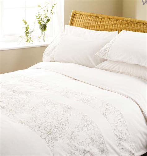 white cotton comforter cover white cotton bedding embroidered stripe bed linen duvet
