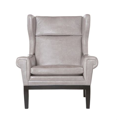 Grey Leather Accent Chair Lyto Mid Century Wing Back Masculine Grey Leather Accent Chair