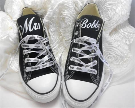 custom wedding sneakers custom wedding converse personalized mrs wedding shoes