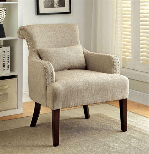 agalva beige fabric accent chair  furniture  america cm acbg coleman furniture