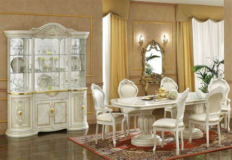 Classic Dining Room Furniture Ivory Italian Classic Dining Set
