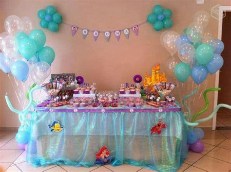 mesa de postre tem 225 tica de la sirenita 2nd birthday ariel mermaid