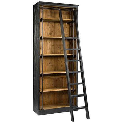 black and antique bleached sea wood bookcase and