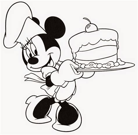 minnie mouse birthday coloring pages coloring pages